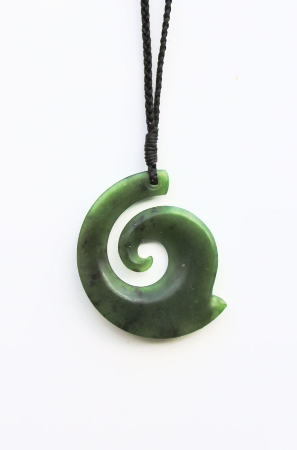 One sided Koru - NZ Greenstone-Pounamu