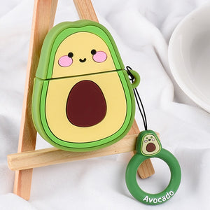 Cute Cartoon Cases For Apple AirPods 1 2 - Avocado 01
