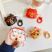 Load image into Gallery viewer, Cute silicone Protective Cases for Airpods - Lucky Cat