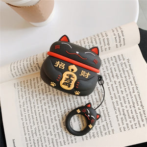 Cute silicone Protective Cases for Airpods - Lucky Cat