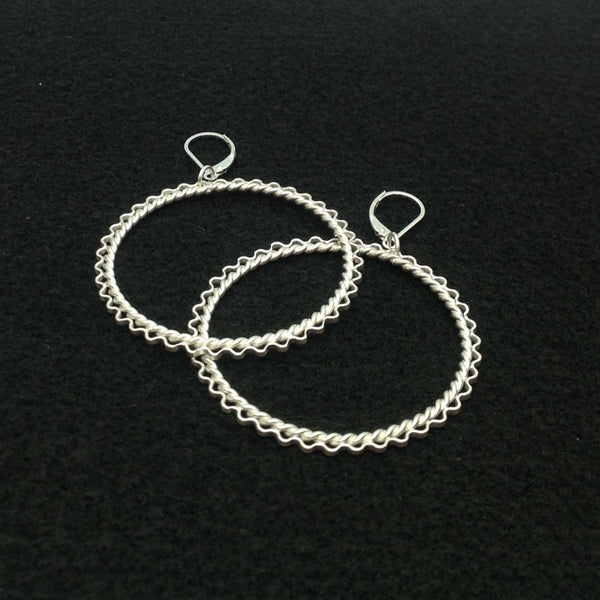 Zig Zag Large Hoop Earrings