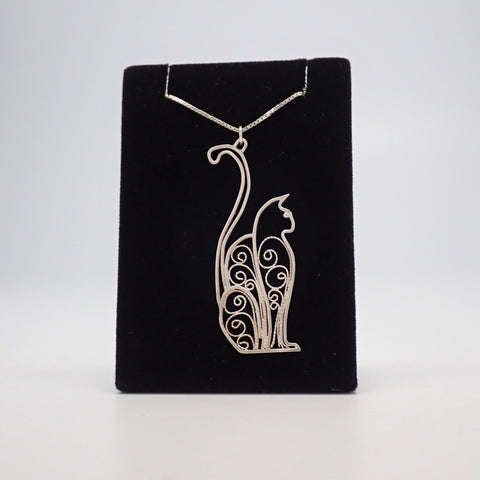 Art Deco Cat Pendant
