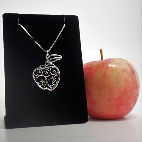 Apple Filigree Pendant