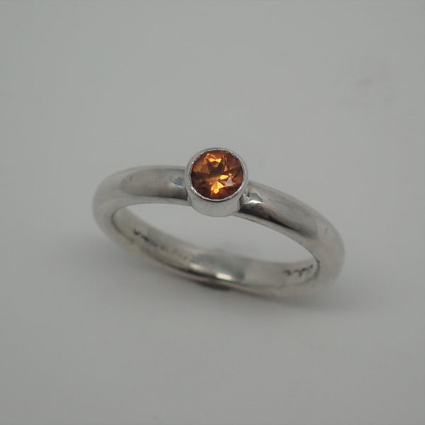 Golden Citrine Ring (size 5)