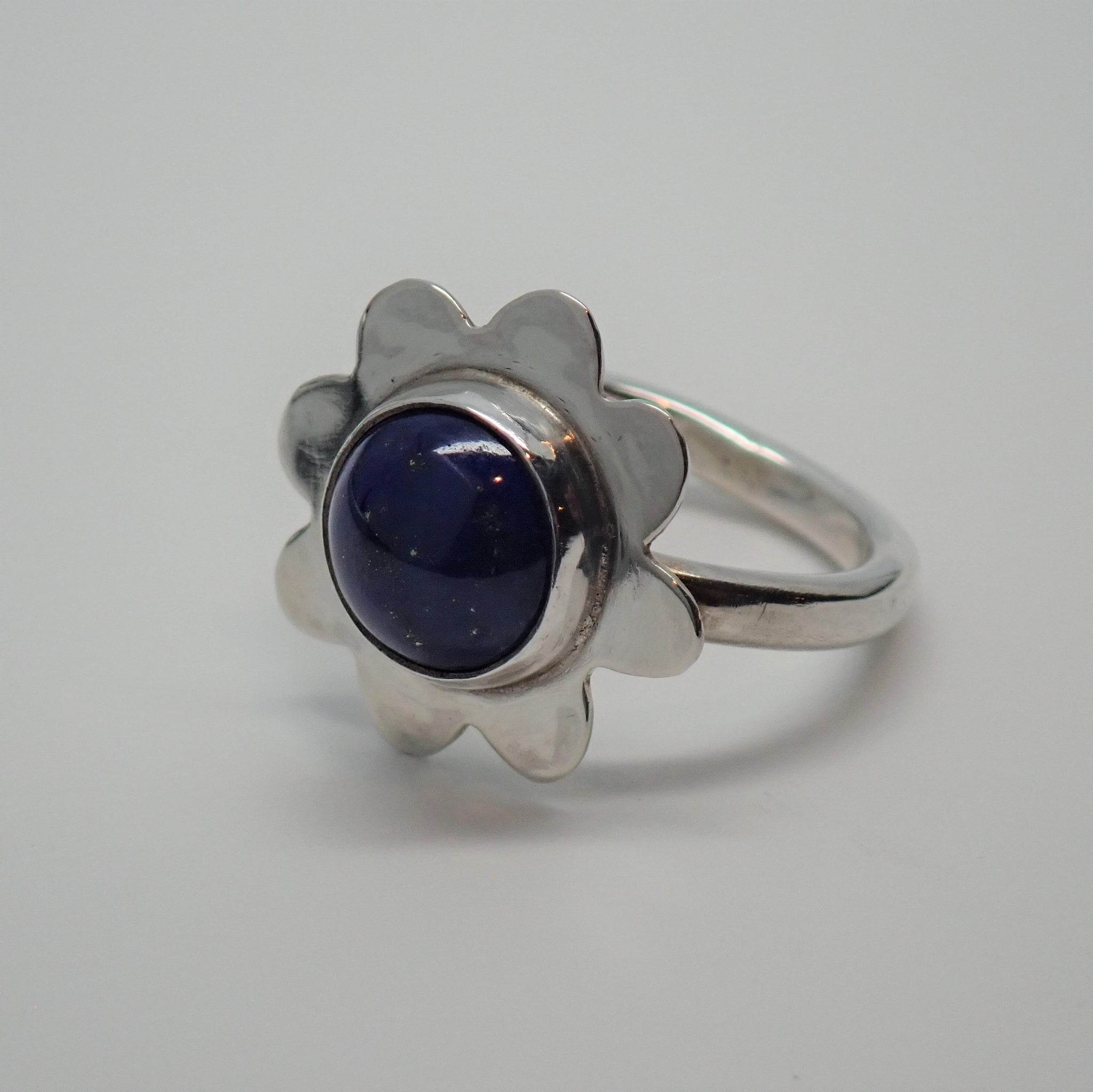 Lapis Flower Ring (size 6.25)