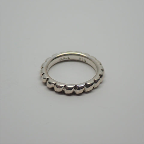 Hand Filed Rope Ring (size 6.25)