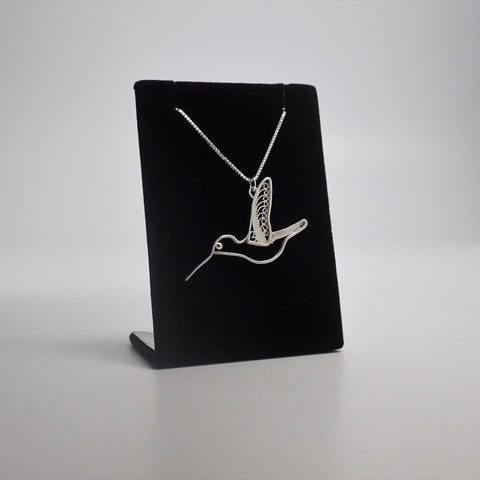 Hummingbird Filigree Pendant