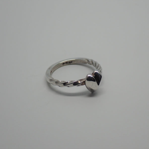Heart Ring with Two Twists (size 4.25)