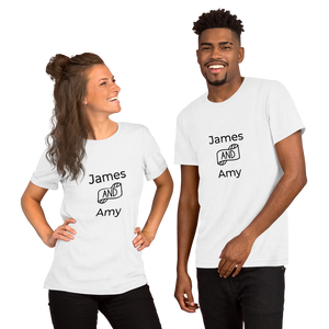 Open image in slideshow, Personalizable couple t-shirt