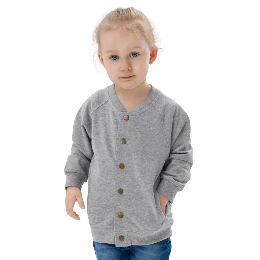 Personalizable Baby Organic Bomber Jacket