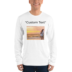Open image in slideshow, Personalizable Long Sleeve American t-shirt