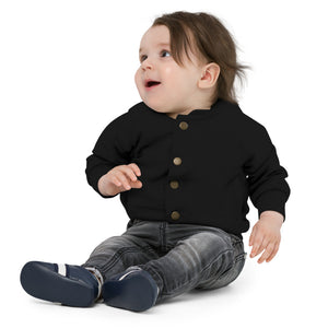 Open image in slideshow, Personalizable Baby Organic Bomber Jacket