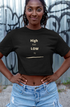 Ego-Women's Crop Tee - Shout Louder Shirts