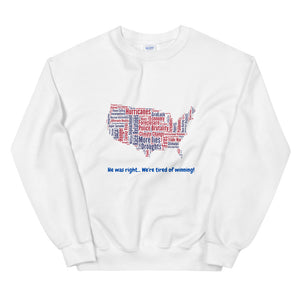 Tired of Winning-Unisex Sweatshirt - Shout Louder Shirts