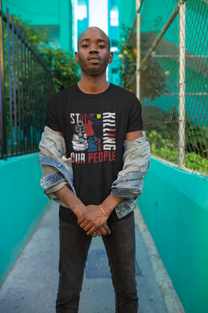 """Stop Killing our People""-Men's heavyweight tee - Shout Louder Shirts"