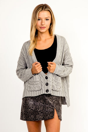 Gianna Cable Knit Cardigan