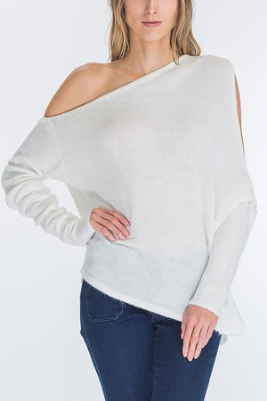Fran One Shoulder Sweater