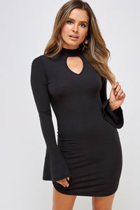 Anna Ribbed Choker Dress