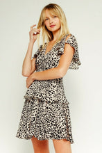 Load image into Gallery viewer, Cream Leopard Ruffle Play Dress