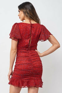 Ruched Back Tie Dress
