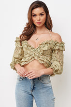 Load image into Gallery viewer, Iris Off Shoulder Lace Top