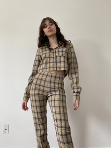 Kyra Cropped Flannel