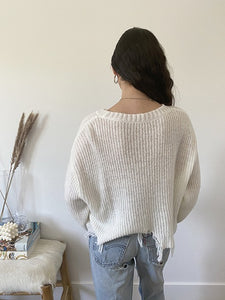 Destiny Over Distressed Sweater