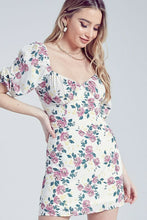 Load image into Gallery viewer, Flower Print Sweetheart Dress