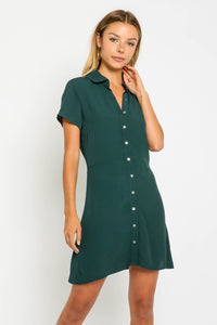 Amber Button Down Collared Dress