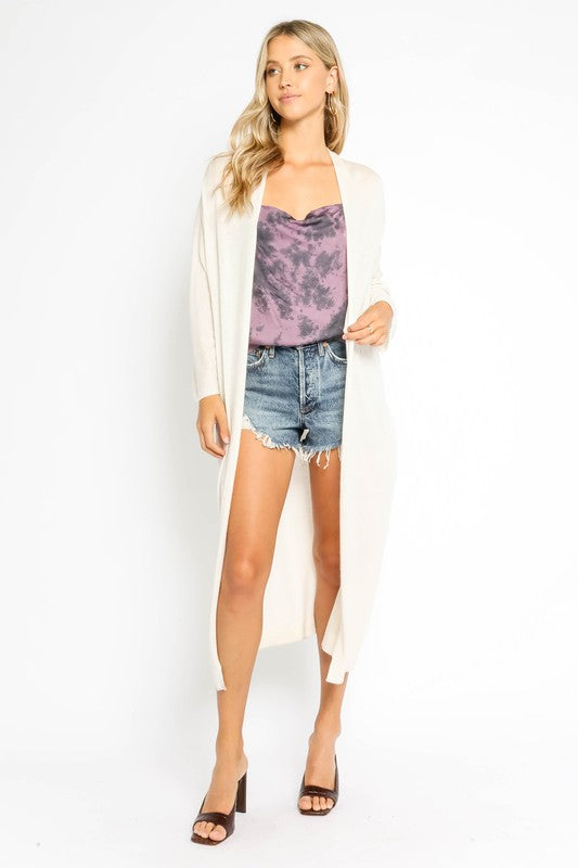 Chandler Tie Dye Satin Top