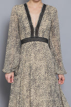 Load image into Gallery viewer, Scarlett Long Sleeve Dotted Maxi Dress