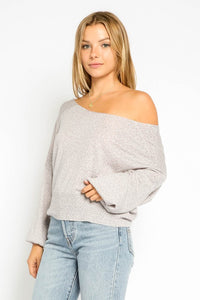 Angela Leopard Off Shoulder Sweater