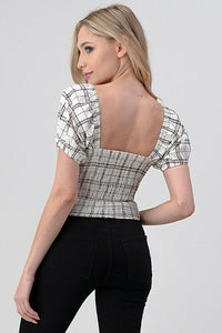 Checkered Smocked Lolita Top