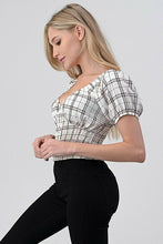 Load image into Gallery viewer, Checkered Smocked Lolita Top
