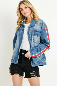 Sleeve Stripe Oversized Jacket