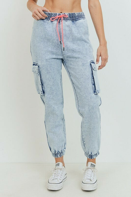 Acid Washed Jogger Pants