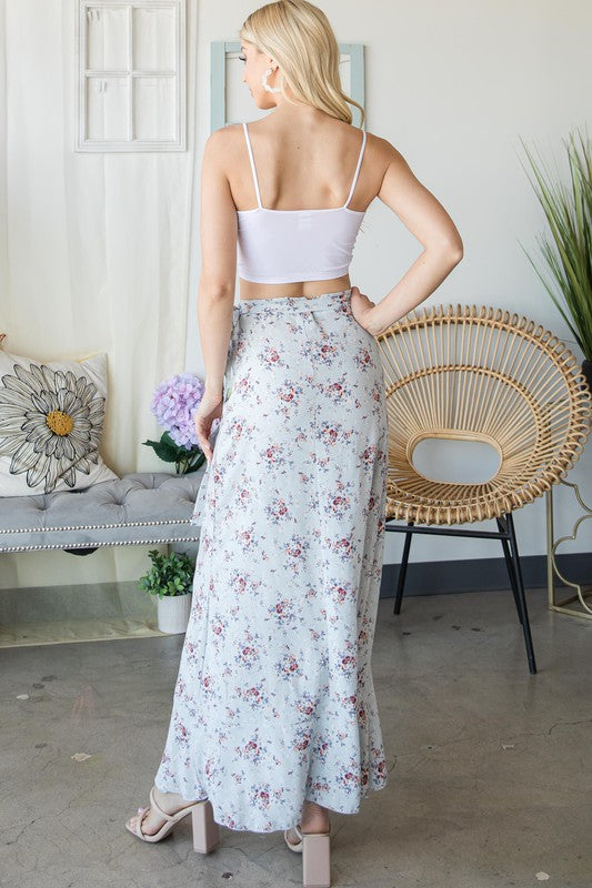 Monique Floral Wrap Skirt