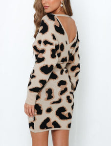 Layla Leopard Sweater Dress