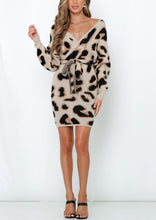 Load image into Gallery viewer, Layla Leopard Sweater Dress