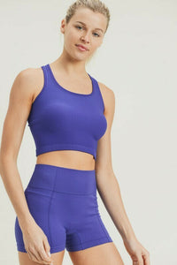 Ribbed All-Over Crop Top
