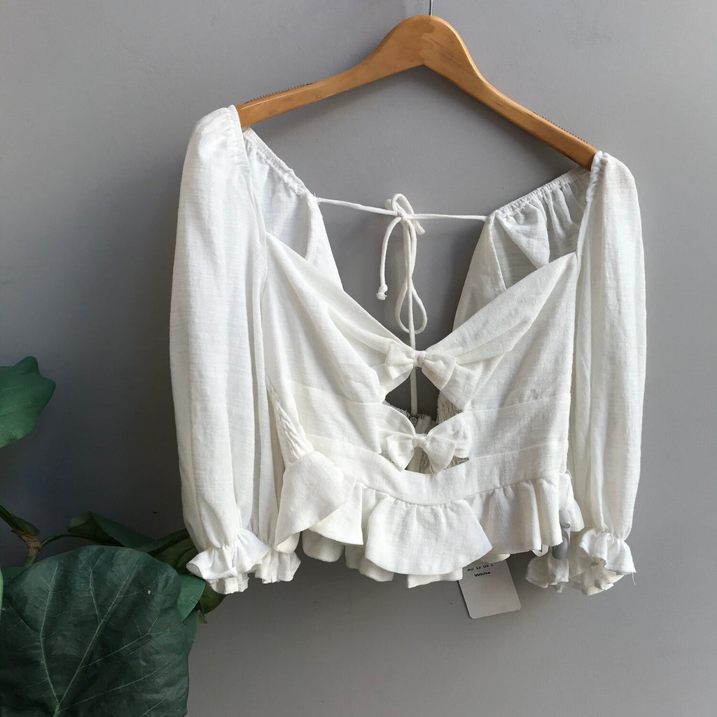 Linen Puff Sleeve Top