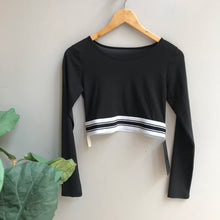Load image into Gallery viewer, Long Sleeve Mesh Crop Top