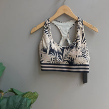 Load image into Gallery viewer, Racerback Palm Trees Sports Bra