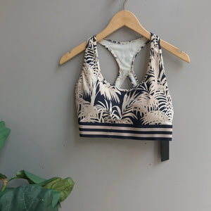 Racerback Palm Trees Sports Bra