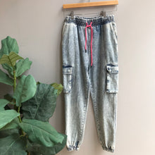 Load image into Gallery viewer, Acid Washed Jogger Pants