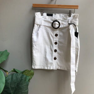 Paperbag Skirt W/ Tortoise Belt