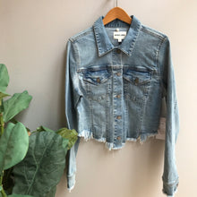 Load image into Gallery viewer, Raw Cut Denim Jacket