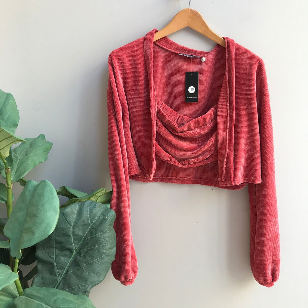 Rosey Tube Top Cardigan Set