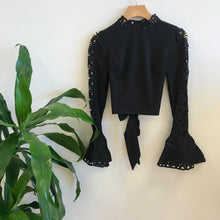 Load image into Gallery viewer, Greta Embroidered Sleeve Top