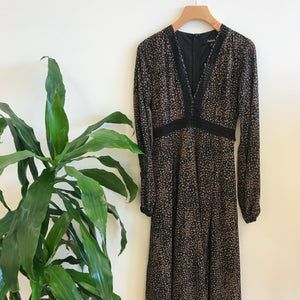 Scarlett Long Sleeve Dotted Maxi Dress
